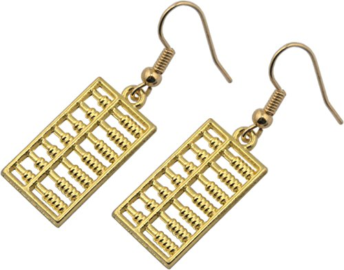 Earrings, Abacus Gold Plated Dangle Earrings + FREE GIFT BAG