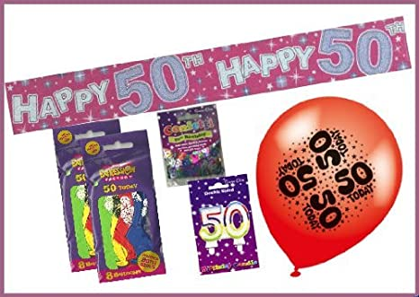 Female 50th Birthday Party Pack