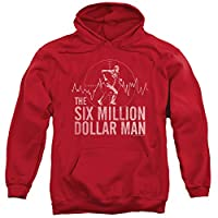 The Six Million Dollar Man Sci-Fi TV Series Target Adult Pull-Over Hoodie