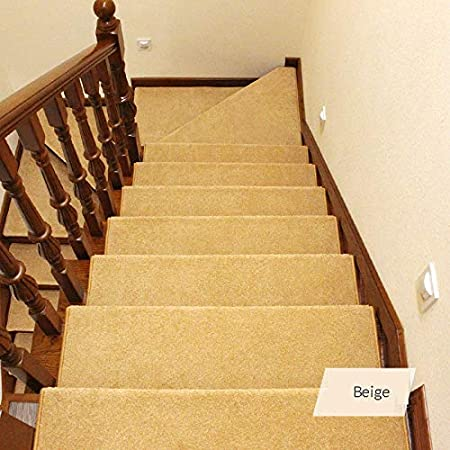 Antideslizantes para escaleras Almohadilla De Escalera Cuadrada Tapete Antideslizante Autoadhesivo para Escalera Espesar Alfombra Paso Decoración Interior TZXSHO: Amazon.es: Hogar