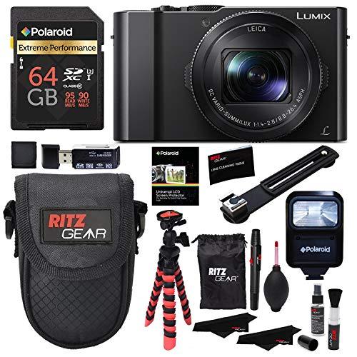 Panasonic LUMIX DMC-LX10K Camera, Polaroid 64GB, Memory Card