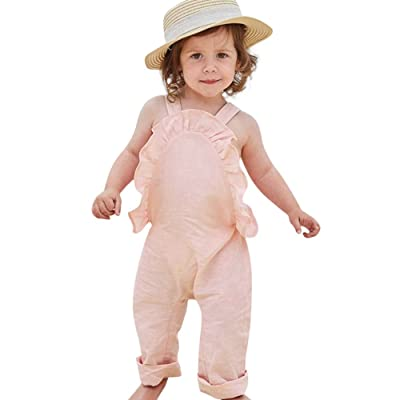 0-3 Years Old,Yamally_9R Toddler Girls Boys Straps Jumpsuit Romper Ruffles Overall Clothes