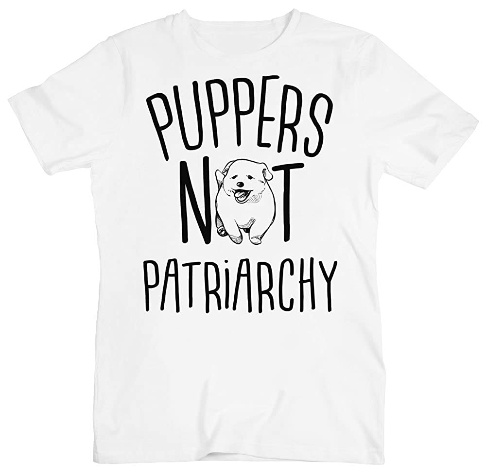 Puppers Not Patriarchy Funny Cute Puppy Design Mens T-Shirt