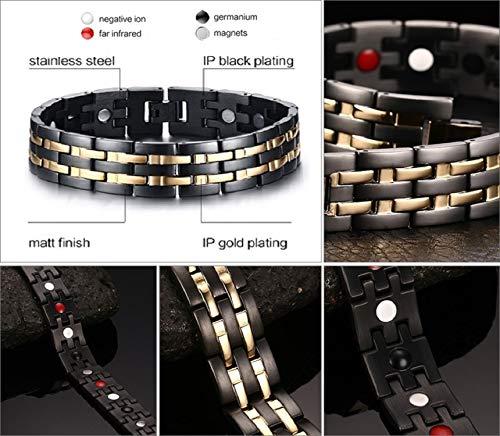 N3 ZELEK Magnetic Bracelet Mens Gifts Magnetic STRONG BIO THERAPY Men Magnetic Bracelets for Arthritis Pain Relief Men… Alternative Medicine [tag]
