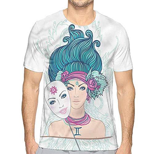 t Shirt Printer Zodiac Gemini,Young Lady Mask Junior t Shirt S