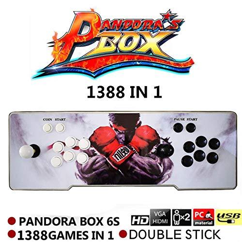 Supertop 1388 in 1 Pandora's Box 6s Retro Video Games Arcade Game Console Double Stick Arcade Console Light Arcade Machine Joystick