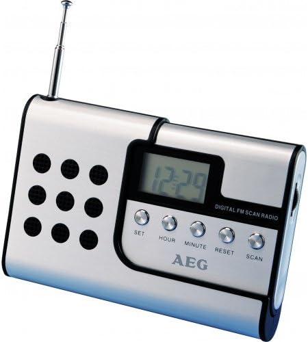 AEG DRR 4107 Radio Digital, Aluminio, Plateado