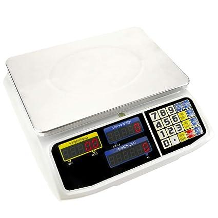 PrimeMatik - Balanza mostrador de sobremesa con Bandeja de 300x205 mm Báscula de Tienda de 3