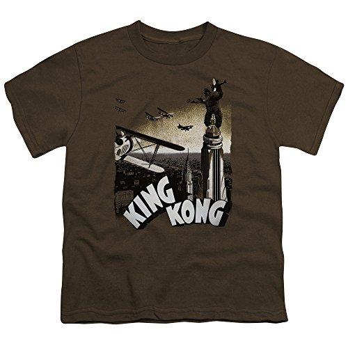 Ptshirt.com-19008-King Kong Monster Action Thriller Movie Final Battle Big Boys T-Shirt Tee-B00IABDCII-T Shirt Design