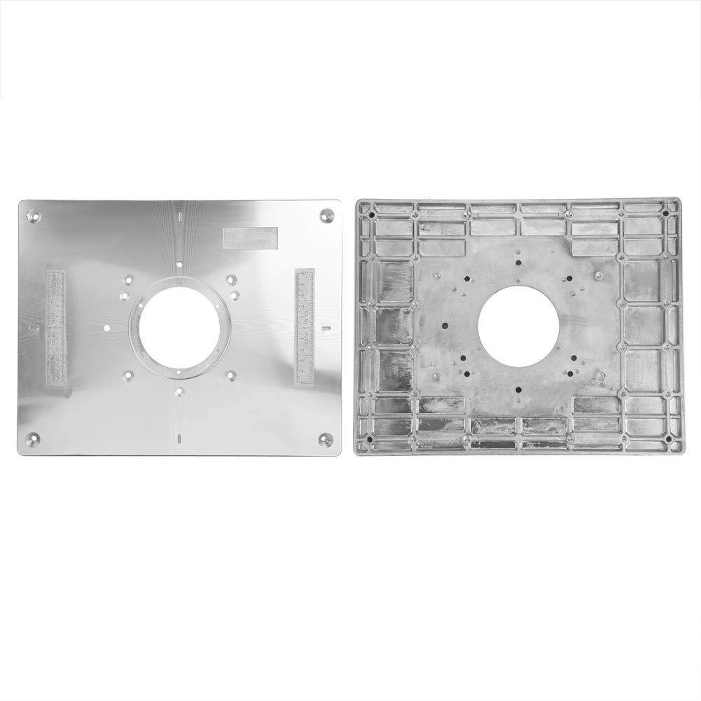 Mesa de fresado 300 mm x 235 mm x 9,5 mm DIY Placa de inserci/ón de mesa de fresadora y anillo de inserci/ón Carpinter/ía