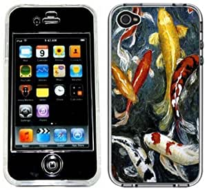 Koi Fish Handmade iPhone 4 4S Full Hard Plastic Case