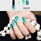 Hot Nail Art! AMA(TM) Temperature Change Nail Polish Chameleon Thermal Color Change UV Gel Pigment (G)