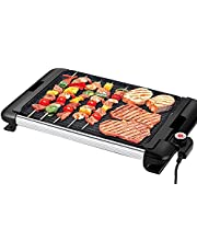 Process Coating Nonstick Skillet Multifunction Barbecue Machine Electric Grill Frying Pan Temperature Smoke Free Control2-6Use1800V- 220W Useful