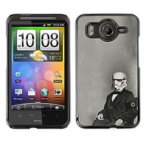 // PHONE CASE GIFT // Duro Estuche protector PC Cáscara Plástico Carcasa Funda Hard Protective Case for HTC G10 / Divertido Stormtroop la foto del vintage /