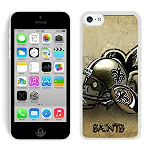 Popular iPhone 5C Case ,New Orleans Saints 14 White iPhone 5C Screen Case Hot Sale And Fashionable Designed Cover Case