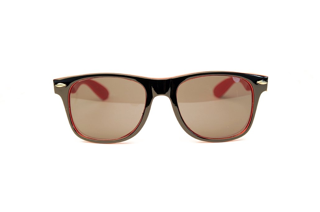 STAGE Rebel Sunglass Black//Red Accent//Smoke HRP Distributing STG8001BR