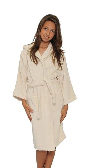 abc72c9968 Amazon.com  Beige Kid s Hooded bathrobes
