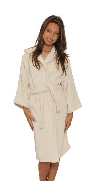 d99e7347e2 Amazon.com  Beige Kid s Hooded bathrobes