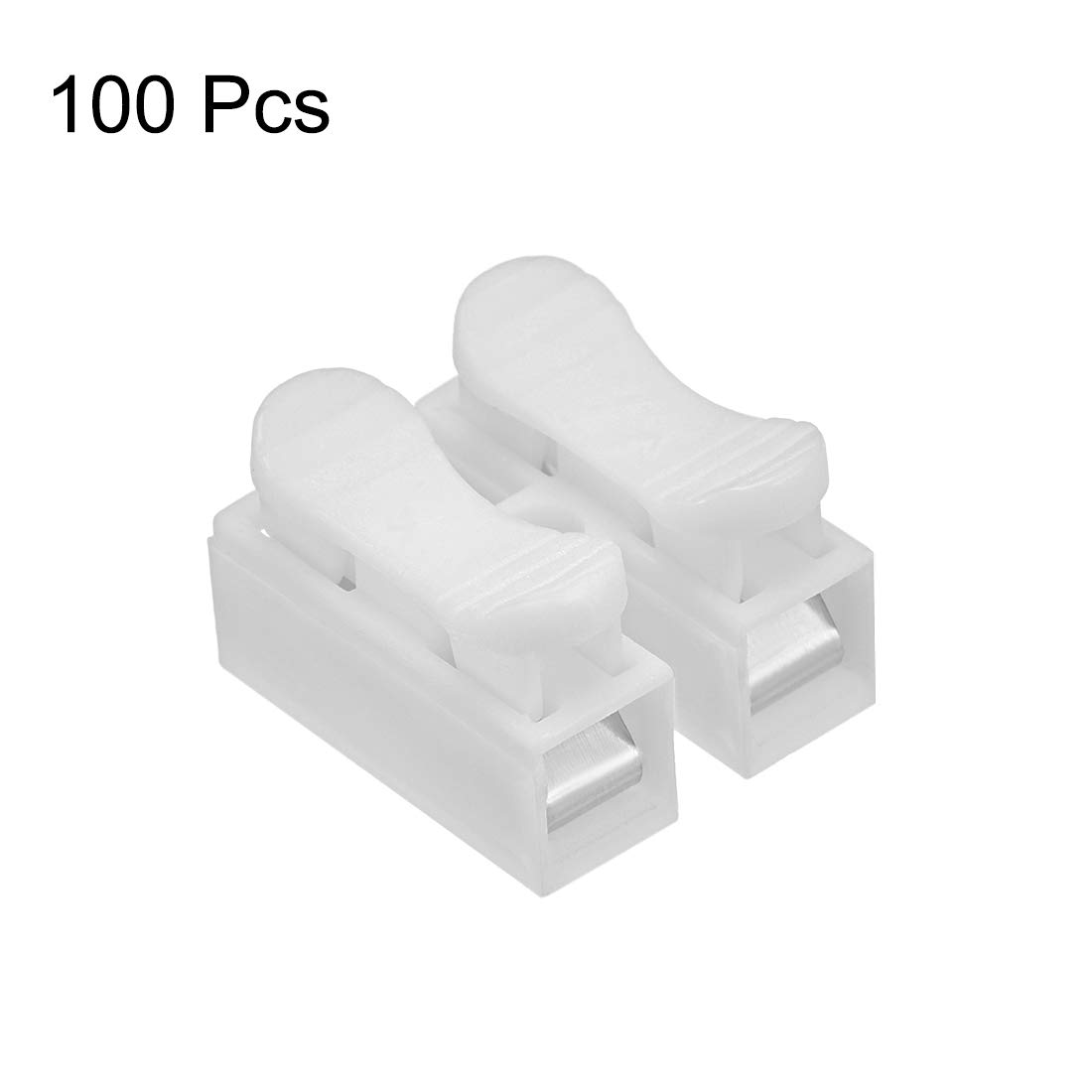uxcell CH3 Spring Wire Connectors Quick Cable Connector Terminal Barrier Block 30pcs