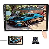 10.1Inch 2.5D HD Double Din Car Stereo Radio Receiver, Android 8.1 Touch Screen MP5 Multimedia, Support GPS Navigation Blueto