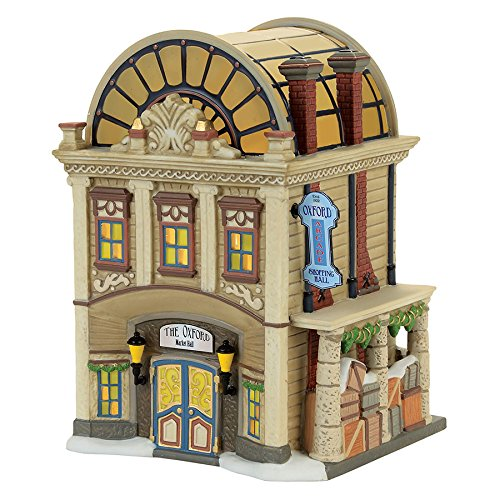 Department 56 Dickens Village the Oxford Arcade Lit Building, - Mall Oxford Stores