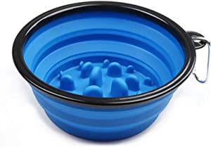 N/P Pet Dog Cat Interactive Slow Food Bowls Collapsible Portable Gulp Slow Feeder Healthy Bloat Dish for Pet Feeding Tools