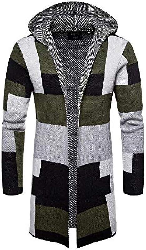 ddmlj Colour Block Cardigan Jacke Męskie Lässig Mittellangen Strickpullover Pullover Męskie: Odzież