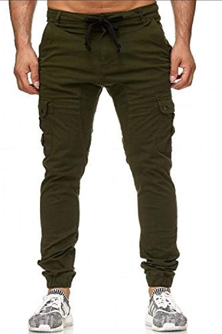 Vska Mens Windproof Plus Size Outdoor Athletic Chino Pants Trousers