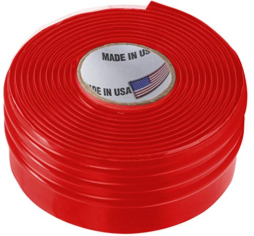 Silicone Rubber Grip Wrap for Tool Handles, Fitness and Sporting Equipment - Red, 1.7mm x 60in - Large Rubber Grip