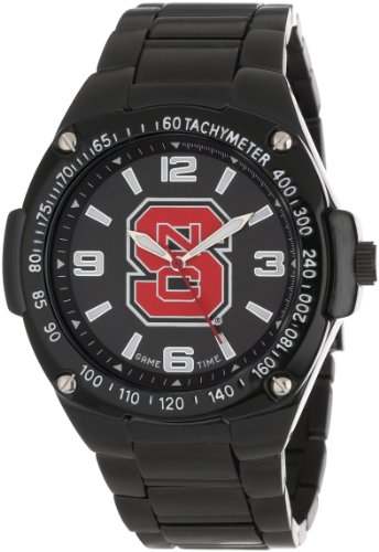 Game Time Unisex COL-WAR-NCS Warrior North Carolina State Analog 3-Hand Watch