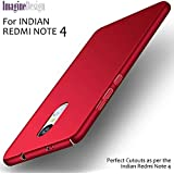 "For REDMI NOTE 4 - WOW Imagine(TM) All Sides Protection ""360 Degree"" Sleek Rubberised Matte Hard Case Back Cover For XIAOMI MI REDMI NOTE 4 - Maroon Wine Red (Perfect Cutouts as per the INDIAN Redmi Note 4 Model)"