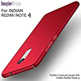 For REDMI NOTE 4 - WOW Imagine(TM) All Sides Protection '360 Degree' Sleek Rubberised Matte Hard Case Back Cover For XIAOMI MI REDMI NOTE 4 - Maroon Wine Red (Perfect Cutouts as per the INDIAN Redmi Note 4 Model)