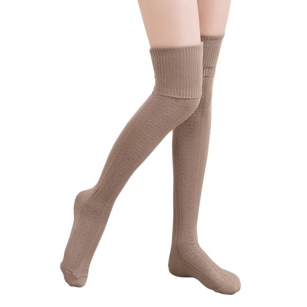 3er Pack Damen Kniestrümpfe viel Baumwolle Mädchen Frauen Strümpfe ohne Gummi