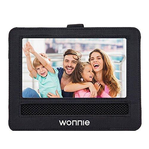 WONNIE Car Headrest Mount Holder Strap Case for Swivel & Flip Style Portable DVD Player (10-10.5 inch)