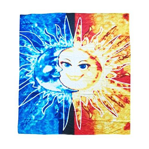 Elakaka Sun & Moon Print Square Beach Towel