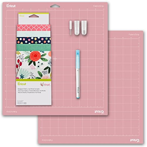 Cricut Tools Bundle - Fabric Grip Mat, Rotary Blade, Fabric Sampler & Fabric Pen by Cricut