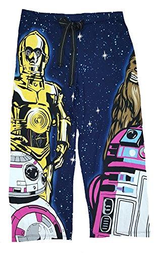 Star Wars Women's C-3PO R2-D2 BB-8 Chewbacca Pajama Lounge Sleep Pants (L) (2)