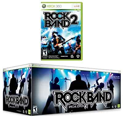 Amazon. Com: rock band special edition + rock band 2 software for.