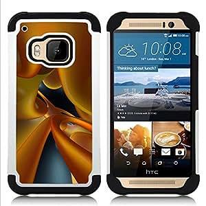 For HTC ONE M9 - yellow fluid dynamic glass 3d art Dual Layer caso de Shell HUELGA Impacto pata de cabra con im????genes gr????ficas Steam - Funny Shop -
