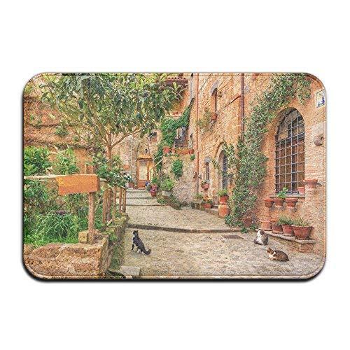 Rustic Tuscan Style Italy Non-slip Durable Floor Mat