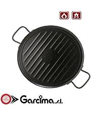 Garcima 11036 - Plancha grill esmaltada redonda 36cm