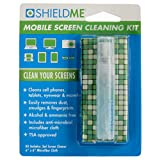 ShieldMe Mobile Screen Cleaning Kit (3mL Container with 6'' X 6'' Microfiber Cloth) with Glue Card