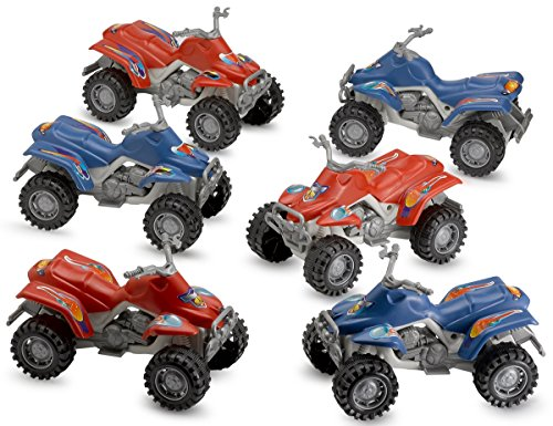 Pull Back Diecast ATV Toy Cars - 6 Pieces - For Kids Collection Toys Prize Gift – By Kidsco