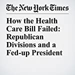 How the Health Care Bill Failed: Republican Divisions and a Fed-up President | Jennifer Steinhauer,Glenn Thrush,Robert Pear
