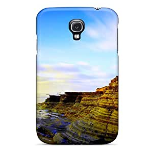 Hot Tpu Cover Case For Galaxy/ S4 Case Cover Skin - Majestic Rocky Beach