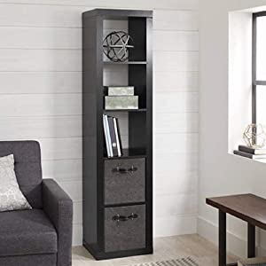 Better Homes and Gardens.. Bookshelf Square Storage Cabinet 4-Cube Organizer (Weathered) (White, 4-Cube) (Solid Black, 5-Cube Horizontal/Vertical)