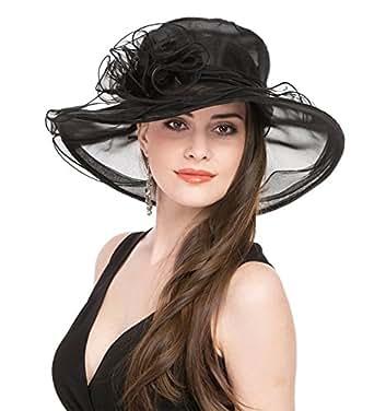 Women's Kentucky Derby Hat, Summer Fascinator Flowers Wide