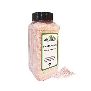 HQOExpress | Organic Pink Himalayan Salt | 46 oz. Chef Jar