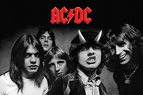 """AC/DC Poster Highway to Hell BW (36""""x24"""")"""