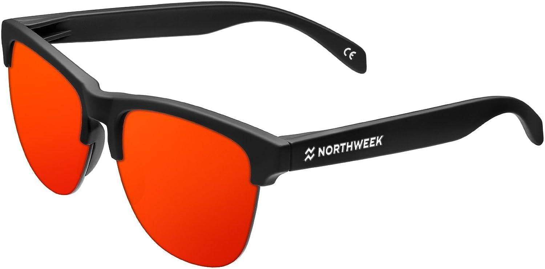 Northweek Gravity Flaka - Gafas de Sol para Hombre y Mujer, Negro/Rojo